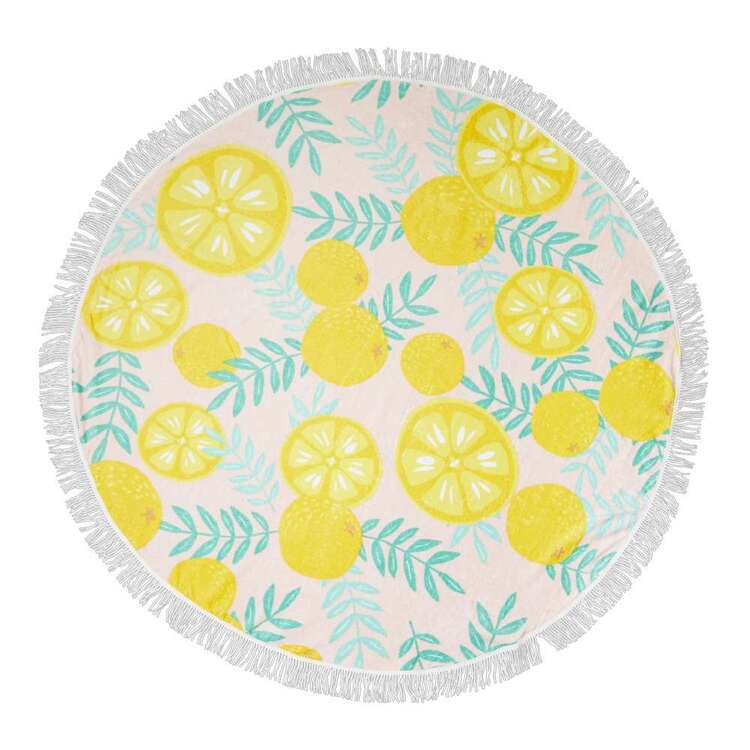 KOO Elite Lemon Round Beach Towel