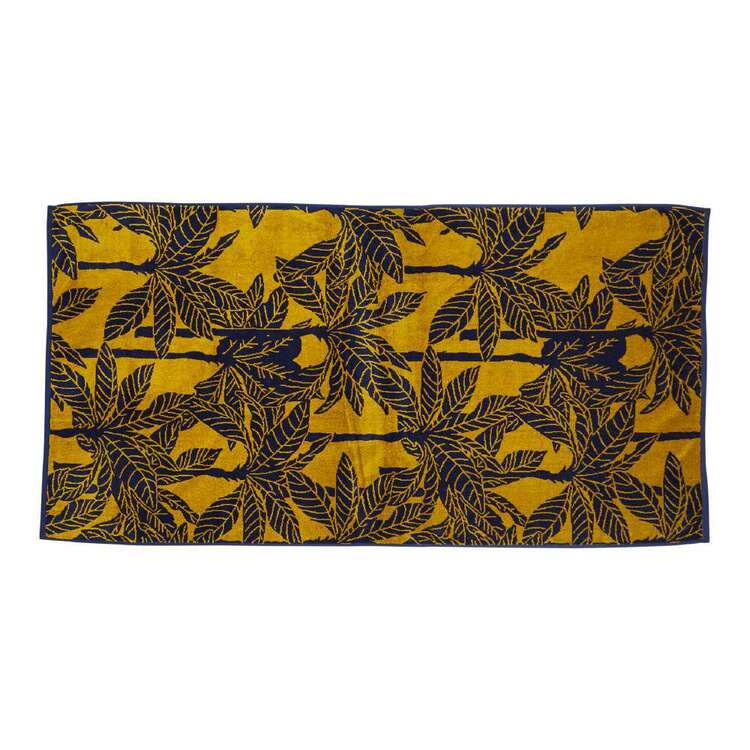 KOO Elite Golden Palm Beach Towel