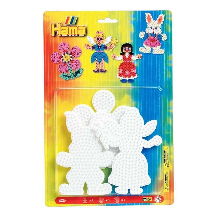 Hama Bead Flower, Rabbit & Fairy Peg Board