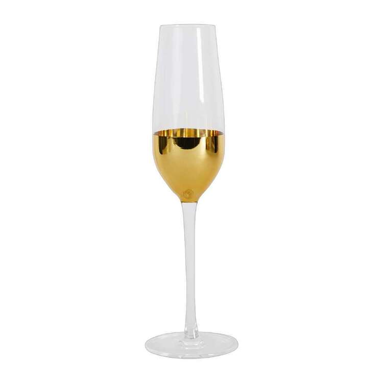 Ladelle Gold Dipped Champagne Glass 2 Pack