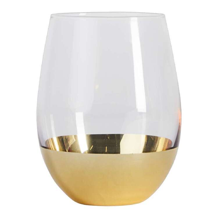Ladelle Gold Dipped Stemless Glass 2 Pack