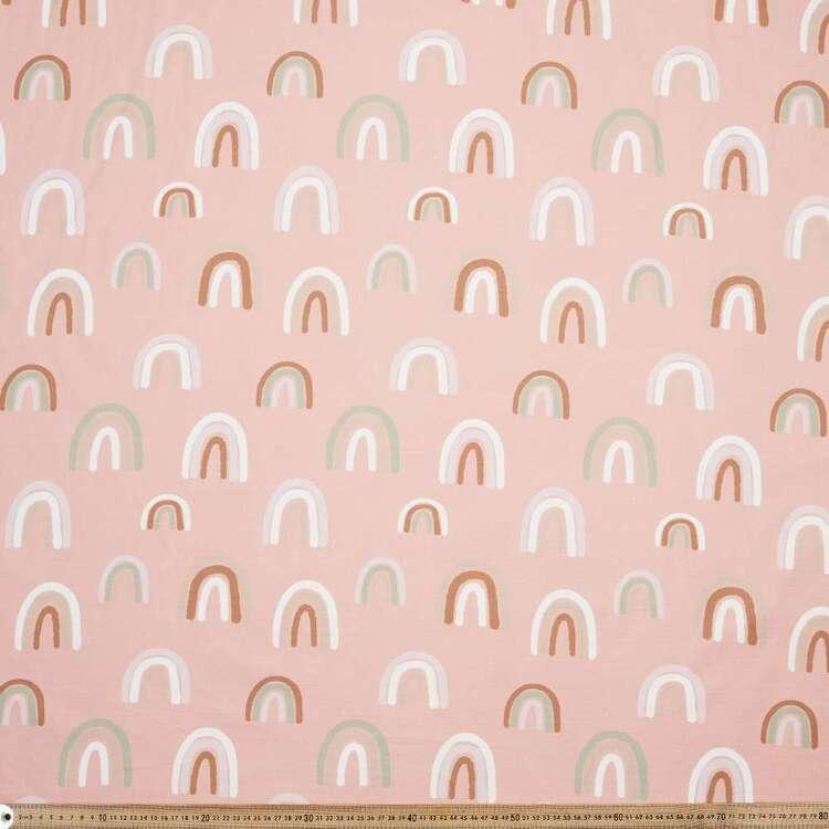 Richelle Lynn Garn Rainbow Printed 112 cm Canvas Fabric