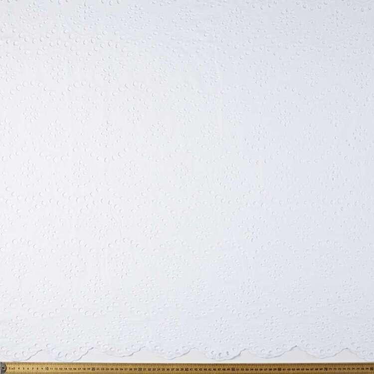 Scallop Edge Embroidered 140 cm Voile Fabric