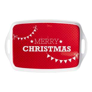 Christmas By Ladelle Large Handle Tray