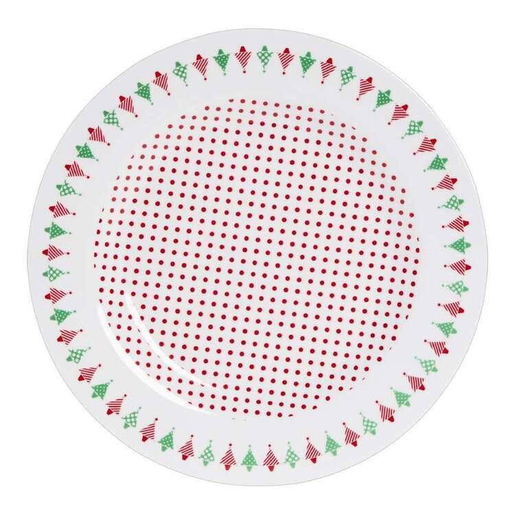 Christmas By Ladelle Plate  Multicoloured