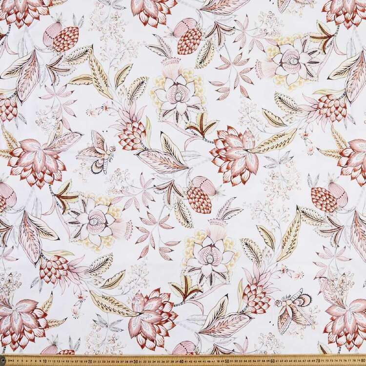 Chintz Printed Cotton Canvas Fabric