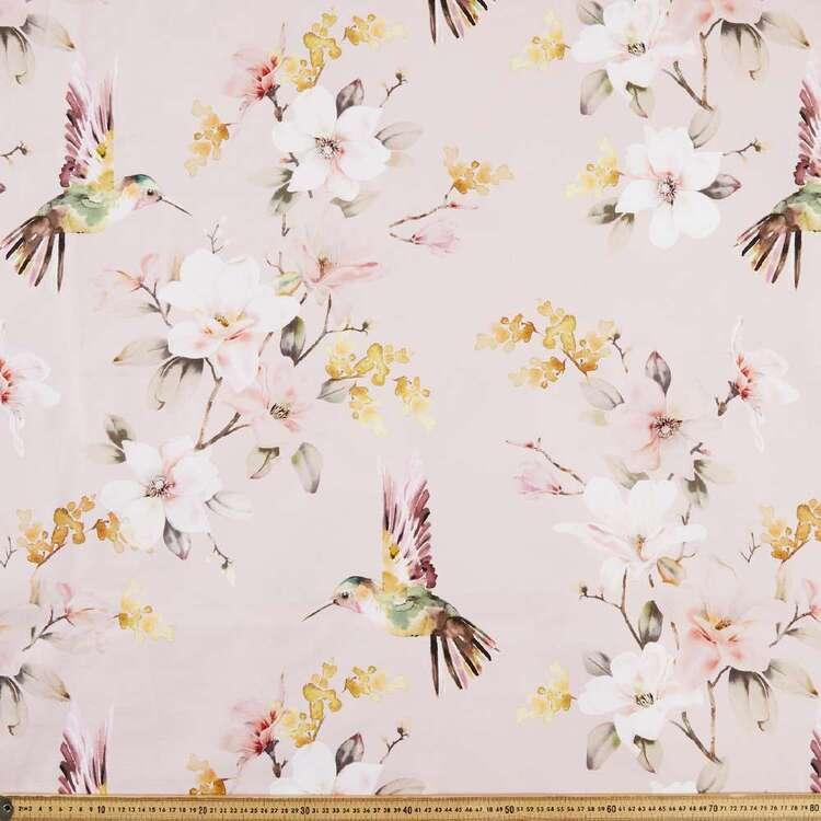 Hummingbird Printed Cotton Canvas Fabric