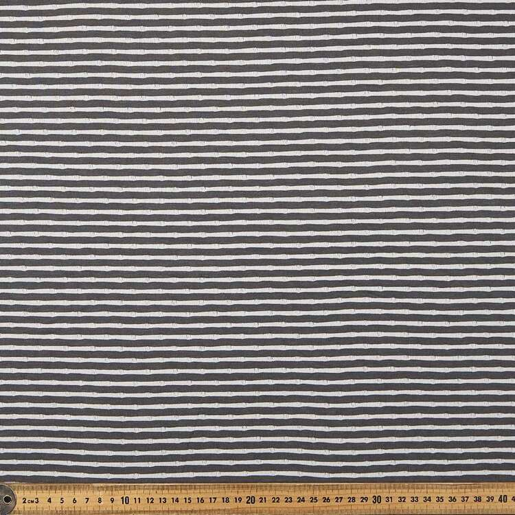 Reversible Stripe Spot 155 cm Knit Fabric