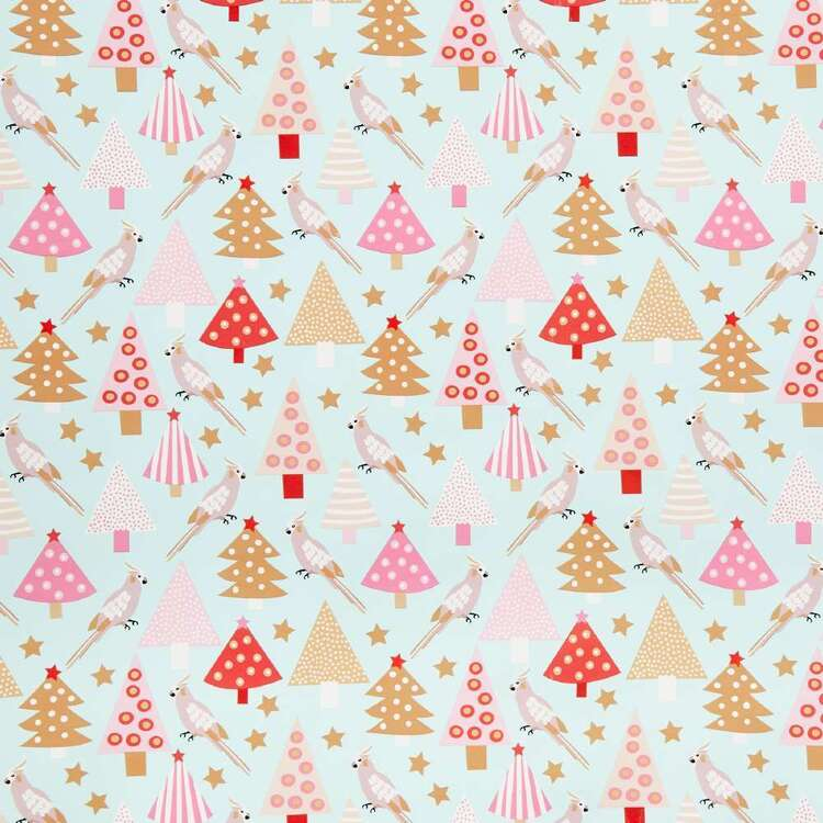 Jolly & Joy Cockatiel Christmas Wrapping Paper
