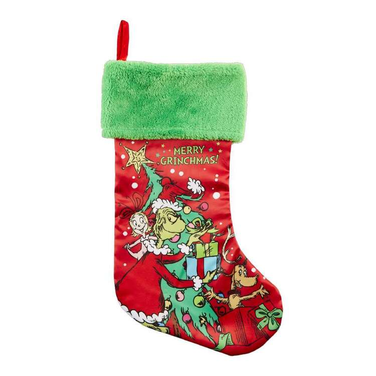 Jolly & Joy Grinch Christmas Stocking
