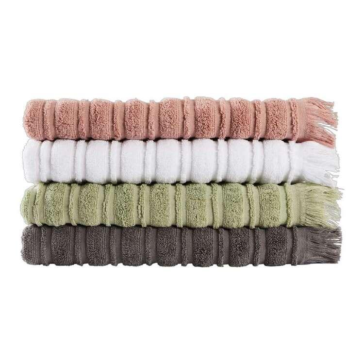 Logan & Mason Ribbed Fringed Towel Collection
