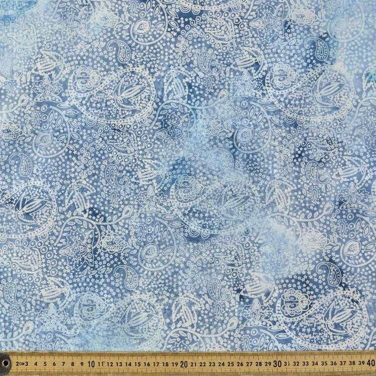 Blue Paisley Indian Batik