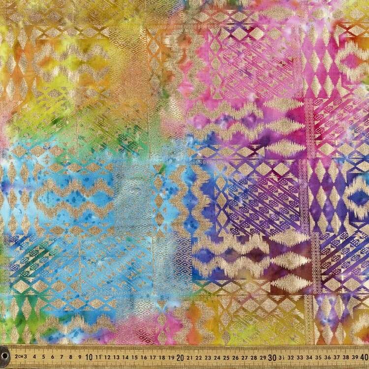 Metallic Aztec Indian Batik