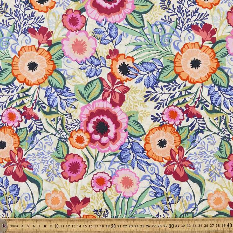 Marisol Large Floral Cotton Fabric