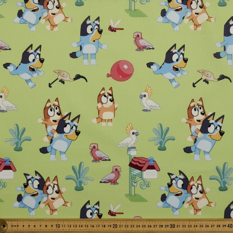 Bluey The Great Outdoors Cotton Fabric