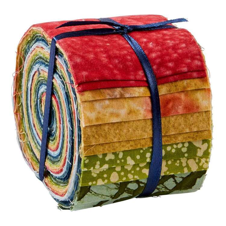 Earth Indian Batik Jelly Roll 20 Pieces