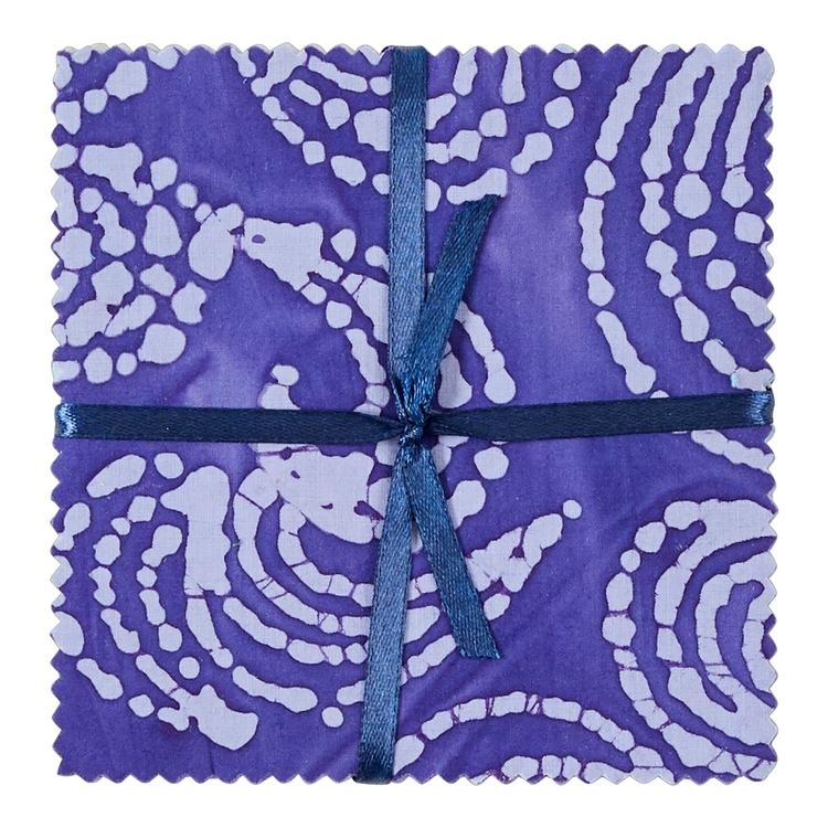 Blue & Purple Indian Batik Charm Pack