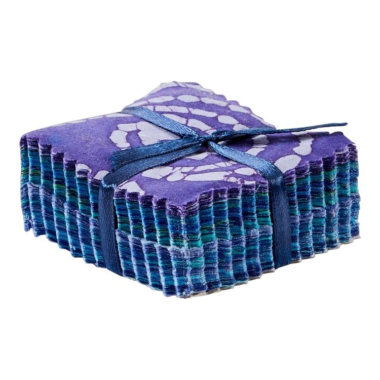 Blue & Purple Indian Batik Mini Charm Pack