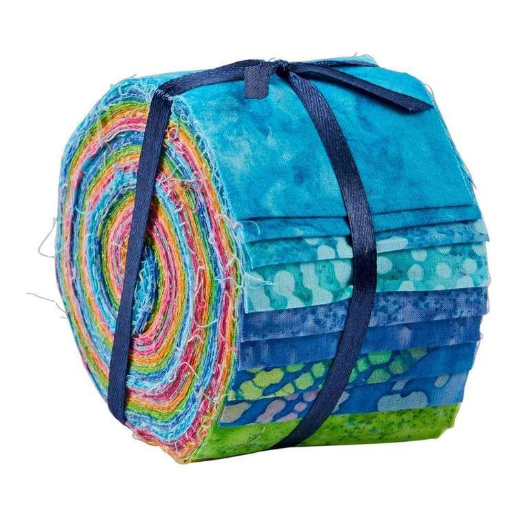 Rainbow Indian Batik Jelly Roll 20 Pieces