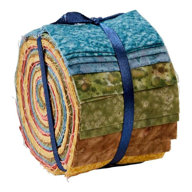 Natural Indian Batik Jelly Roll 20 Pieces