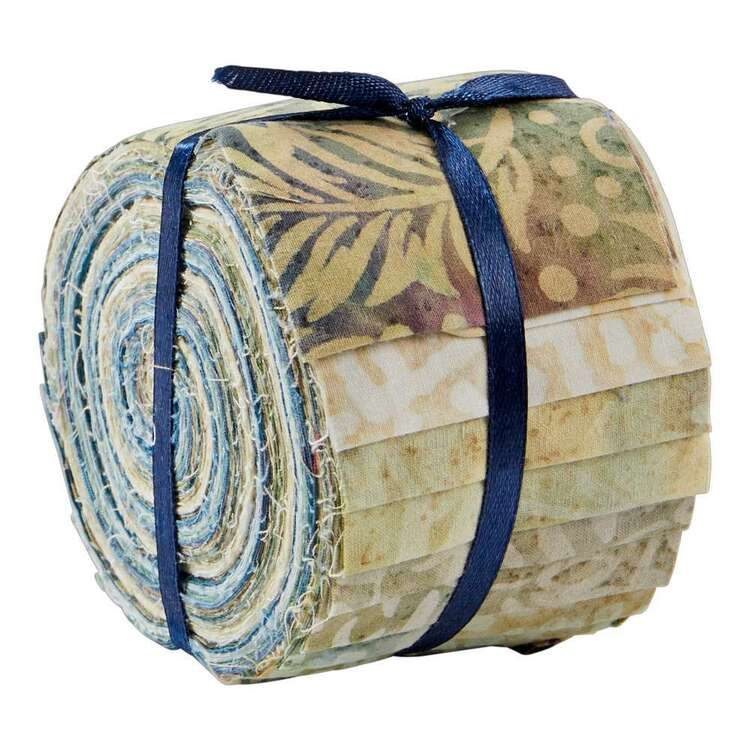 Ice Blue Indian Batik Jelly Roll 20 Pieces