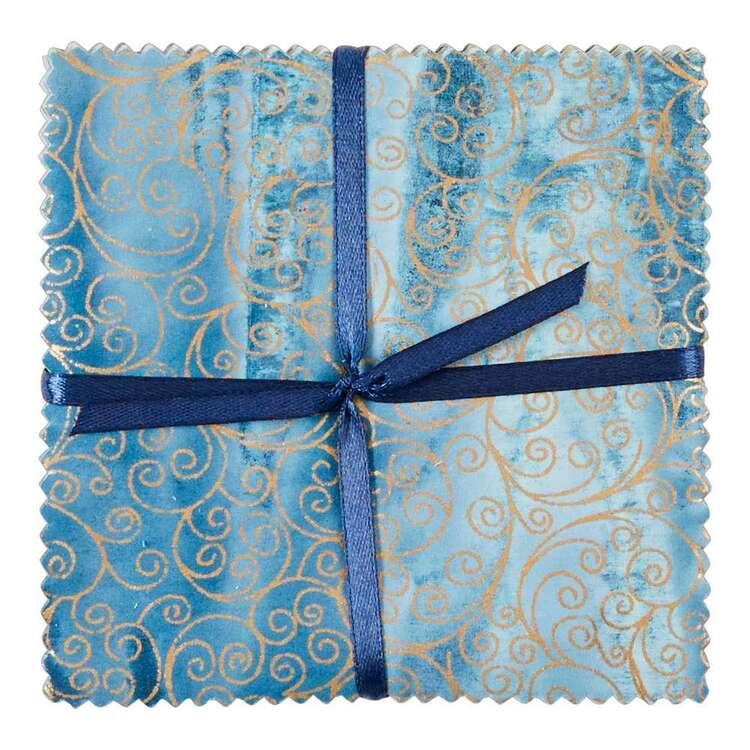 Ice Blue Indian Batik Charm Pack