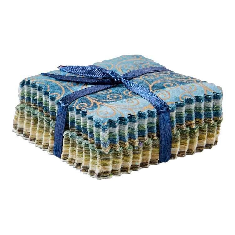 Ice Blue Indian Batik Mini Charm Pack