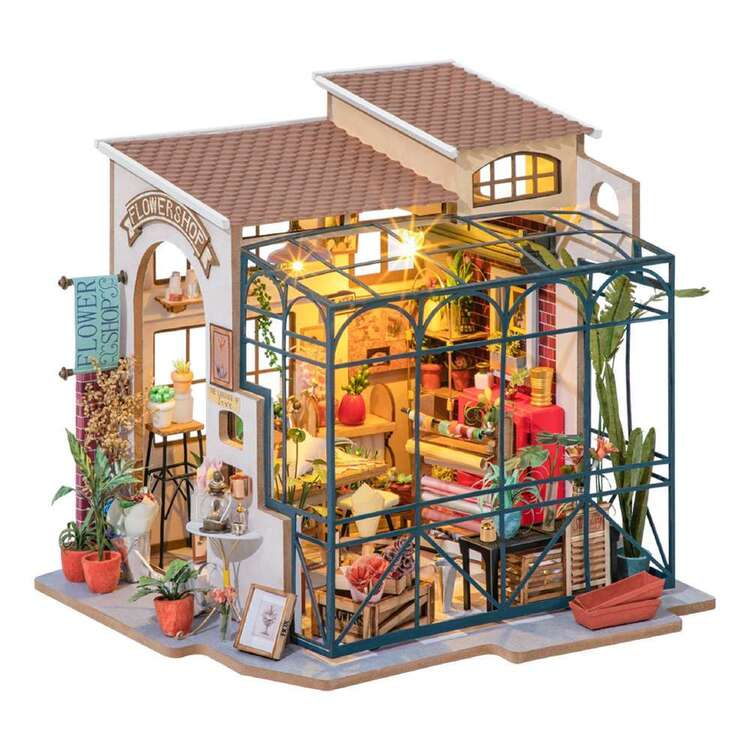 Robotime Emily Flower Shop Mini House Kit