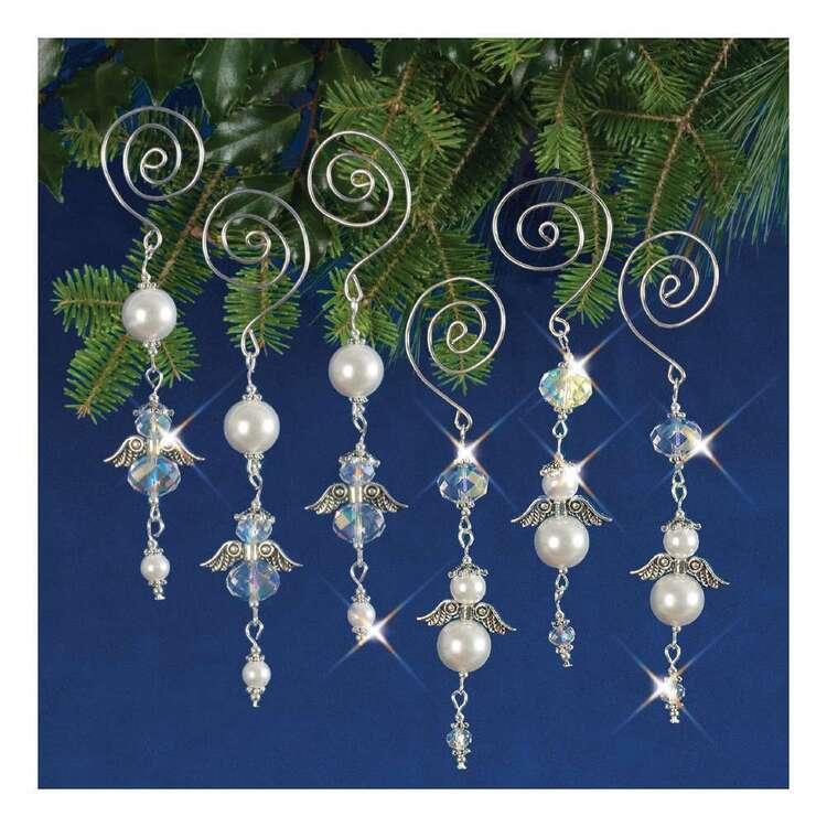 Solid Oak Christmas Dangling Angels Ornament Kits