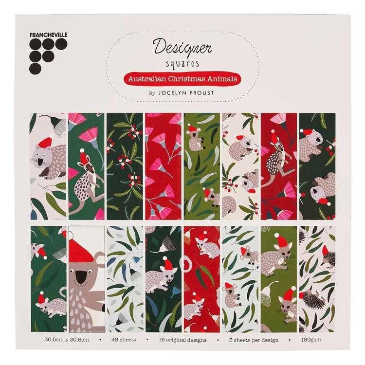 Francheville Jocelyn Proust Australian Christmas Animals 12 x 12 in Paper Pad