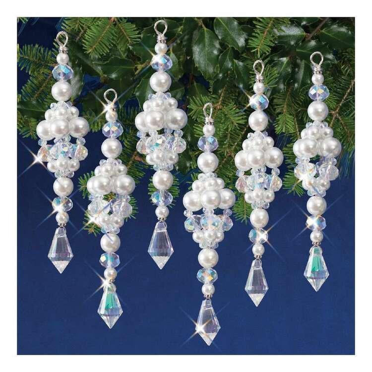 Solid Oak Christmas Ice Drops Ornament Kits