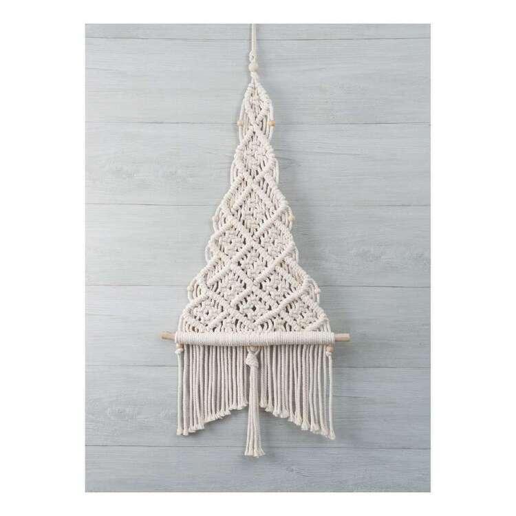 Solid Oak Christmas Tree So Macrame Kit