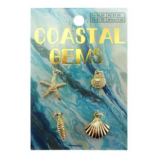 Coastal Charms Shells 4 Pack