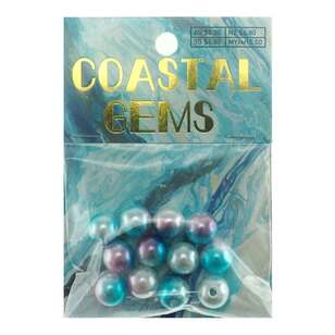 Coastal Glass Acrylic Beads 12 Pack