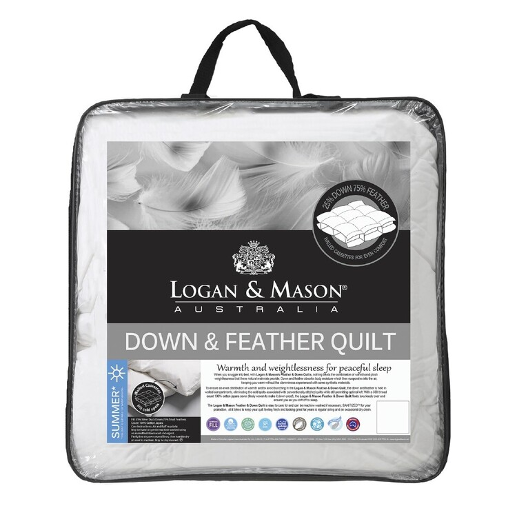 Logan & Mason 25% Duck Down 75% Feather Quilt