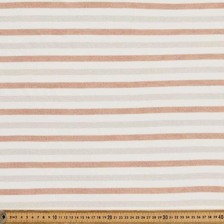 Wide Stripe Gold Lurex Knit Fabric