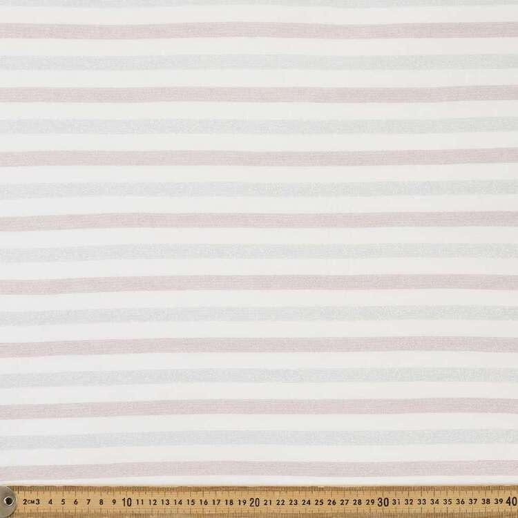 Narrow Stripe Lurex Knit Fabric