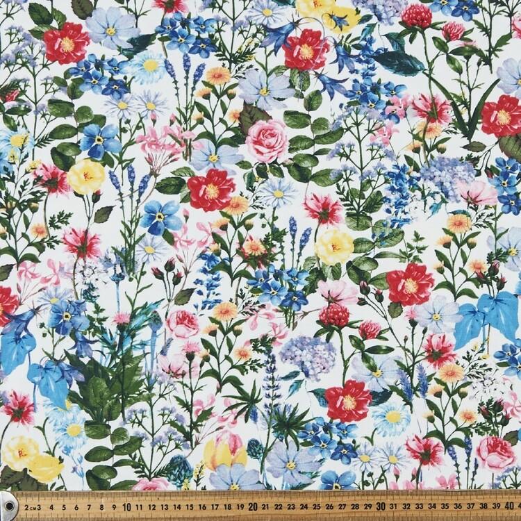 Tuscan Fields Printed 148 cm Cotton Spandex Jersey