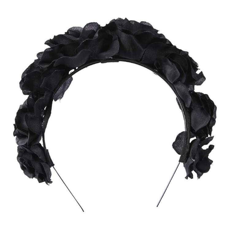 Maria George Black Peony Headband