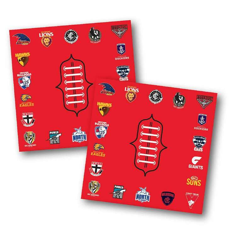 AFL All Team Party Napkins 16 Pack