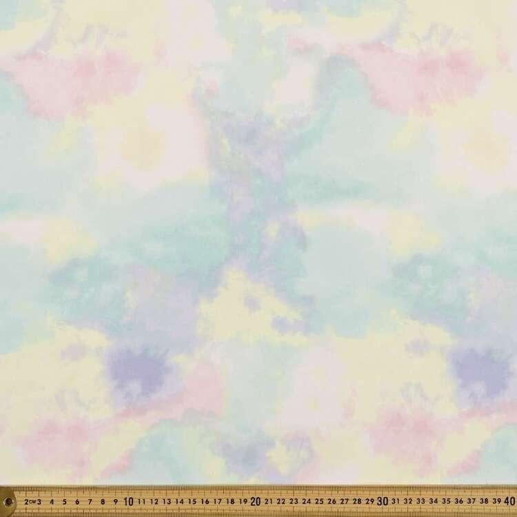 Tie Dye Pastel Organza Fabric