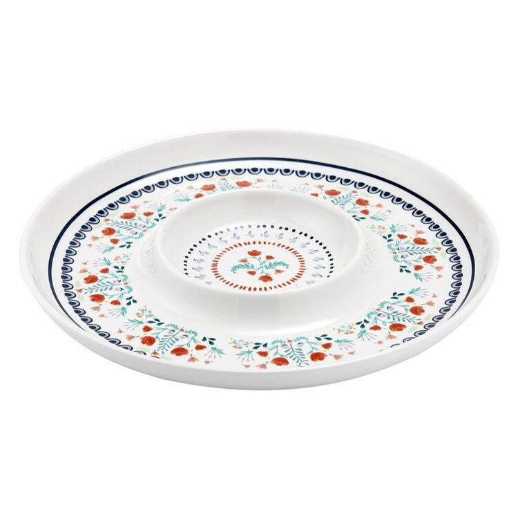 Villa Floral Chip & Dip Platter