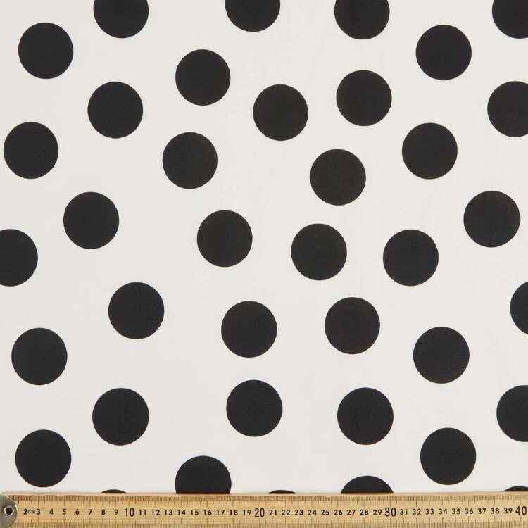 Spots Printed Scuba Knit Fabric