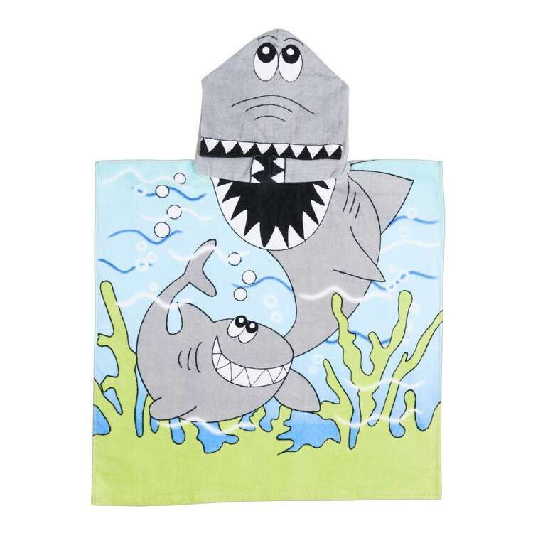 KOO Kids Shark Hooded Beach Towel