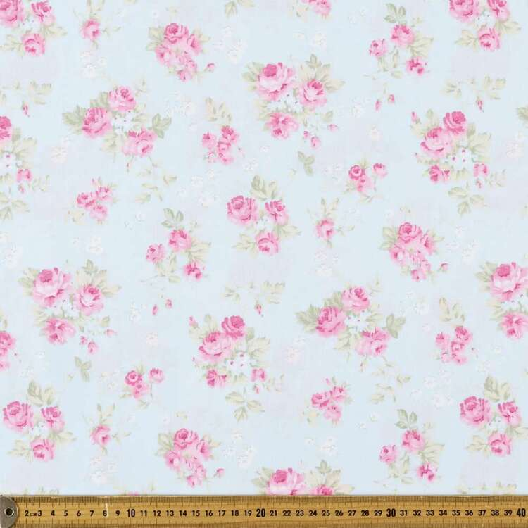 All In Bloom Triple Posy Cotton Fabric