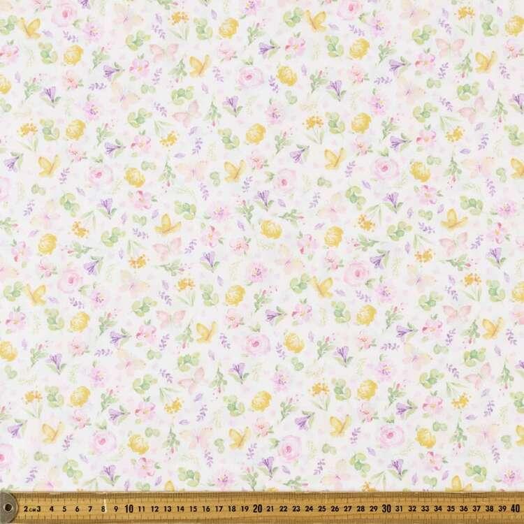 Sweetness Butterflies Printed 112 cm Cotton Fabric