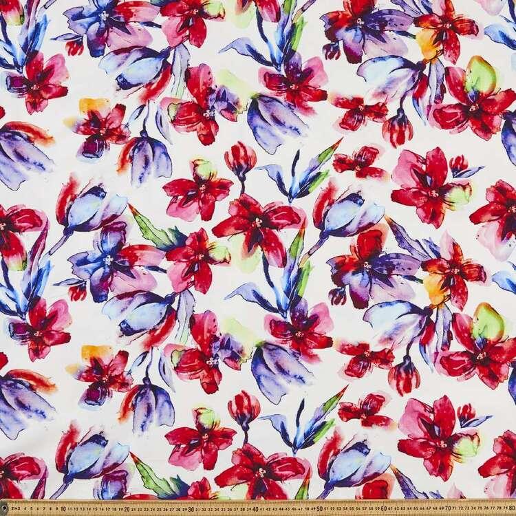 Floral Printed 145 cm Bengaline Fabric