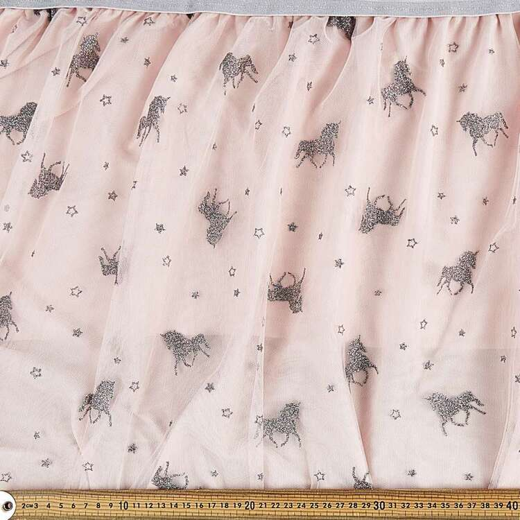 Unicorn Printed Tulle Fabric