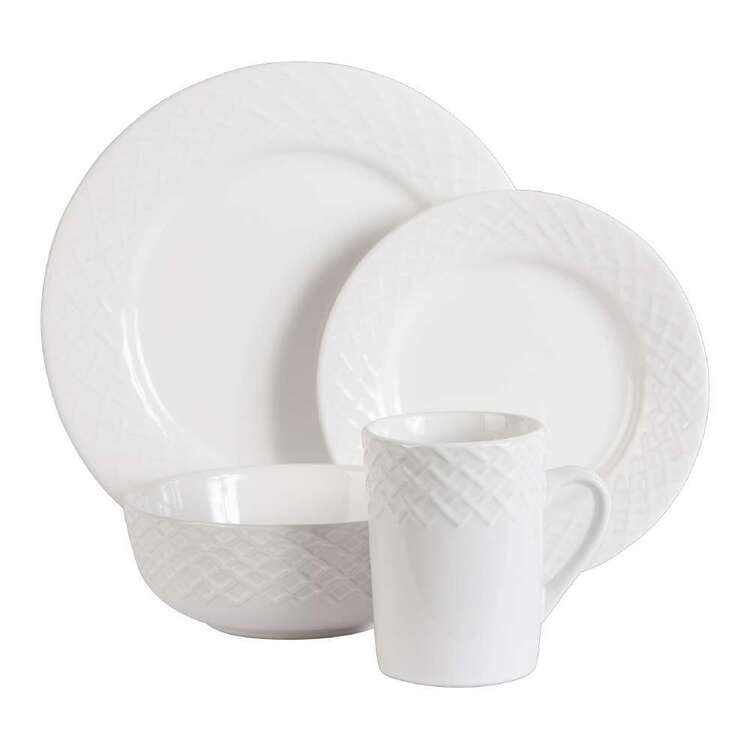Embossed 16 Piece Dinner Set