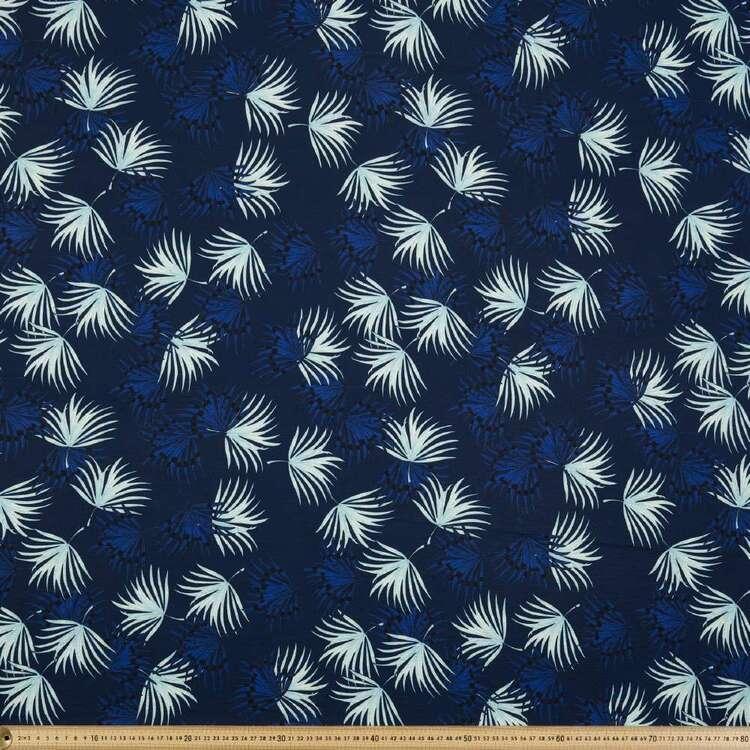 Leaves Printed 138 cm Cumbria Bubble Crepe Fabric